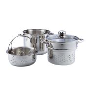 4PCS MULTI COOKER WITH GLASS LID