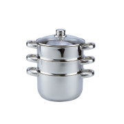 3-TIER STEAMER WITH S/S HANDLES