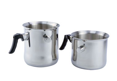DOUBLE WALL MILK POT W/WHISTLE